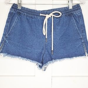 "UO BDG High Rise  Raw Hem 2"" Jean Shorts Small"